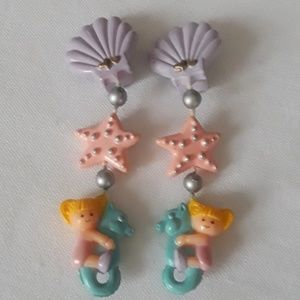 Other - Little Girls Sea Horse and Shells Clip Earrings